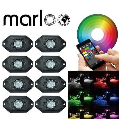 Under Car Light 8pods 9W RGB led rock light with Bluetooth Control For Jeep 4x4