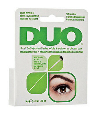 DUO BRUSH ON Striplash Adhesive Eyelash Glue  / White Clear