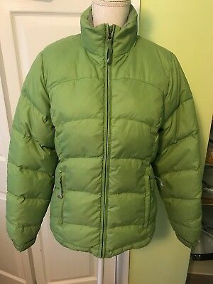 LL Bean Womens Ladies Winter Jacket Size XS Down Filled Green Quilted Puffer