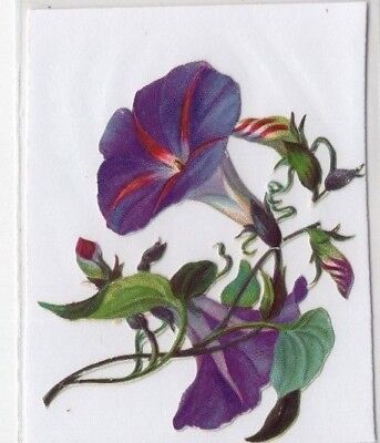 1800's Victorian - Purple Lily Type Flower - Diecut - Selling Lot Of Scrap Cards