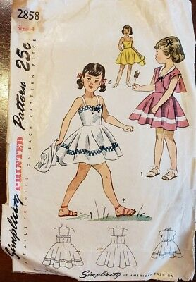 Vtg 1950s Simplicity Girls' Sundress & Bolero Pattern--Free Resizing Tutorial!