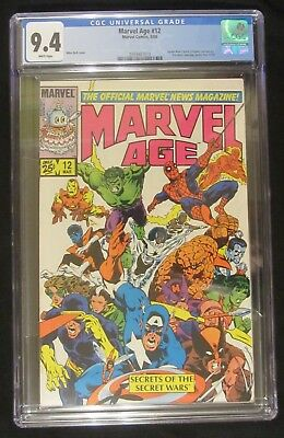 Marvel Age #12 (1984) CGC 9.4...1st Spider-Man black costume (before A.S. #252).