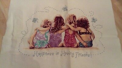 Completed Cross stitch Friends