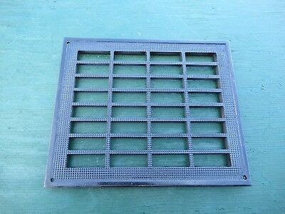 "Vintage VICTORIAN Cast Iron Floor Grille Heat Grate Register 9"" long x 8"" wide"