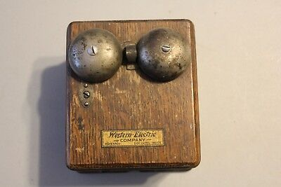 ANTIQUE VINTAGE WESTERN ELECTRIC, RINGER BOX, TELEPHONE wood BELL BOX