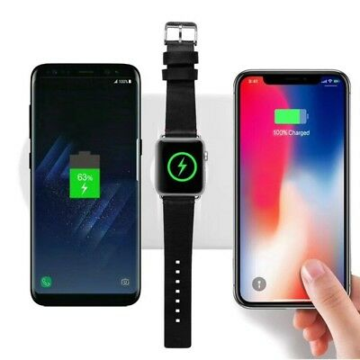 3-in-1 Qi Wireless Charger Pad AirPower For iPhone X/XS/MAS & iWatch   US SHIP