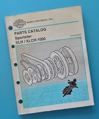 1954-1978 Harley Spare Parts Catalog Manual Book XLH XLCH XLT Sportster