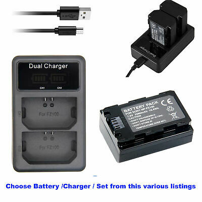 NPFZ100 Rechargeable  Battery PACK /DUAL USB Charger for SONY Z-series  Alpha A9