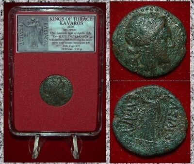Ancient GREEK Coin THRACE KAVAROS Apollo and Nike With Wreath RARE COIN