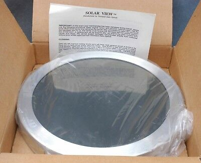 """Solar View Photographic Only Glass Solar Filter For Meade 10"""" Sct Telescopes"""