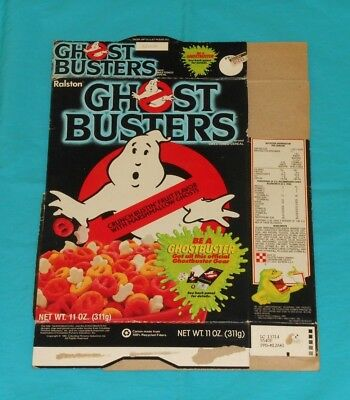 vintage Ralston GHOSTBUSTERS CEREAL BOX (with Ghostbuster Kit offer)