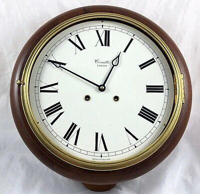 Comitti Of London Mahogany Round Wall Clock *** 32.5 Cm ***