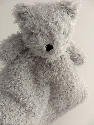 Blankets and Beyond Security Blanket Bear Gray Shaggy Baby Lovey Crib Toy