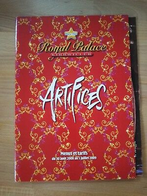 Programme ROYAL PALACE 2008-2009