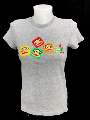 Paul Frank Julius The Monkey & Friends Women's Gray Graphic T-Shirt Size Small