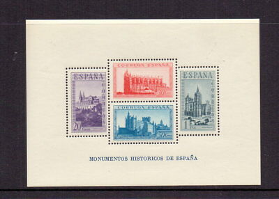 Spain 1938 Monuments Perf M/sheet Mnh