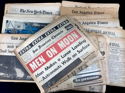 July 21,1969 NASA Space Race Exploration Man On Moon Daily Newspapers 20 Cities