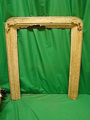 Antique Late 1800's Cast Iron Ornate Fireplace Insert Cover Frame...
