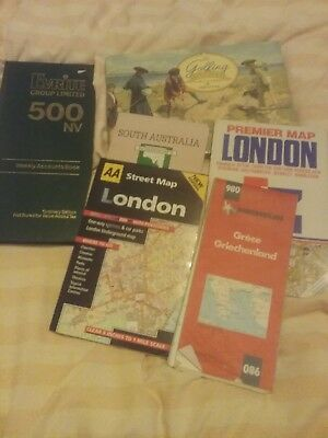 Mixed Lot Maps Accounts Book Golfing Cards