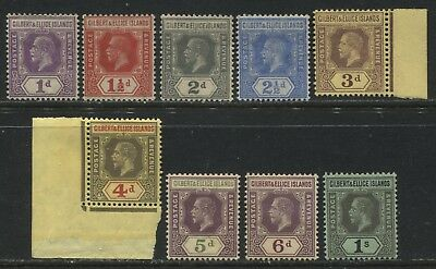 Gilbert and Ellice Islands KGV 1912-19 definitives to 1/ mint o.g.