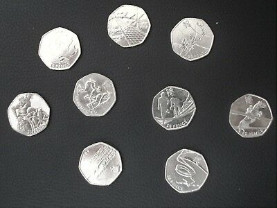 Olympic 50p's -Help to complete your collection Offside/Triathlon/Judo/Wrestling