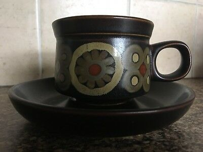 Denby Arabesque Vintage Tea-Cup And Saucer- Good Used Condition