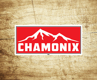 "Chamonix France Skiing Vinyl Sticker Decal  3.75"" X 1.75"" Ski Snowboarding"