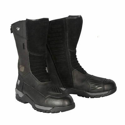 Spada Stelvio Wp Black Waterproof Motorcycle Motorbike Bike Touring Boots
