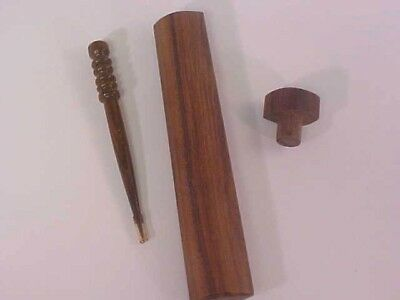 Fiber Laying Tool Solid Turned Wood Hand Crafted Wooden Case Pointed Tip