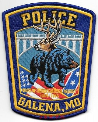 "*NEW*  Galena, Missouri  ""Deer - Bear""  (4"" x 5"")  shoulder police patch (fire)"