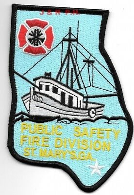 """*NEW*  St. Mary's Public Safety - Fire Division, Georgia (3.5"""" x 5"""")  fire patch"""