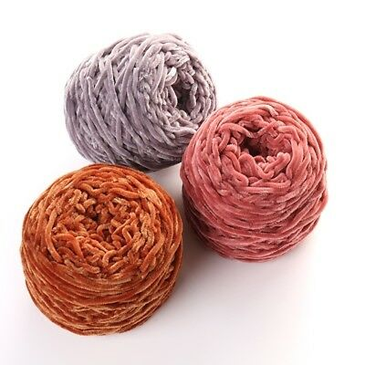 LION BRAND CHENILLE Thick Quick Yarn~Lot of 2/7 6 total oz~Dusty