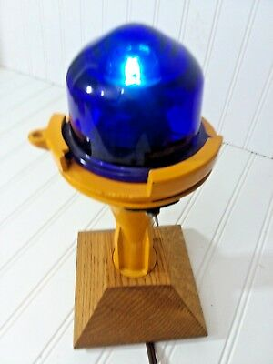 Airport Runway/Taxiway Light w/Blue Globe-wired to 120V **FREE SHIPPING**