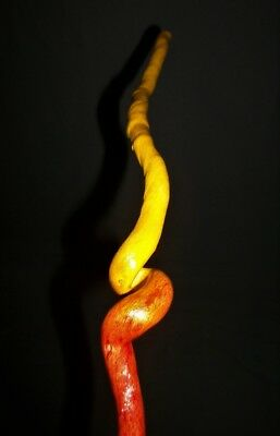 """19 3/8"""" Finished Curled Spiral Grape Vine Wand Witch Pagan Wizard Metaphysical"""