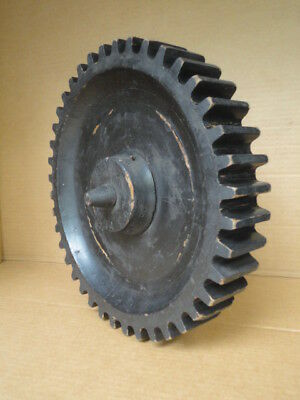 Wood Mold Foundry Pattern Antique Industrial Machinery Wooden Gear Wheel  'A'