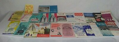 Lot vintage 1950's 1960's tourist brochures  schedules maps NYC New York City
