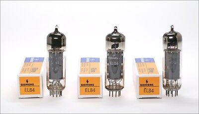 3x Siemens EL84 6BQ5 german audio tube - Tested !