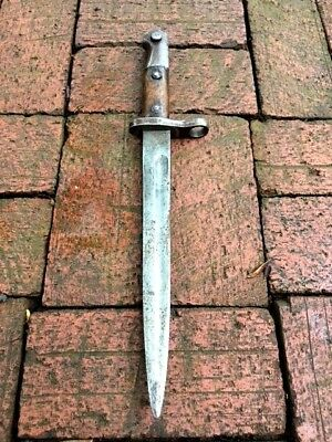 1890 Antique Ottoman dagger Bayonet Crescent and Star  etched Jambiya N Sword