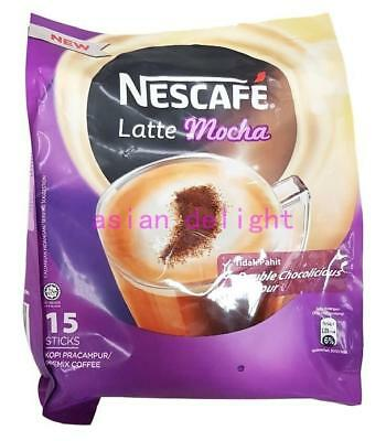 NESCAFE Latte Mocha Instant Premix Coffee  ( 31 g x15 sticks )