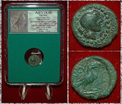 Ancient GREEK Coin TROAS ABYDOS Apollo Eagle MUSEUM Quality Rare Coin!
