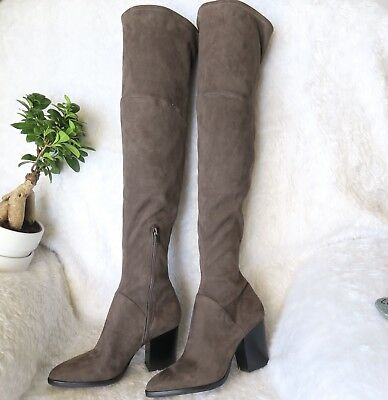 f2ac259fe69 Marc Fisher LTD NEW Women s Size 8M Gray Arrine Over The Knee Boots NWOB   249