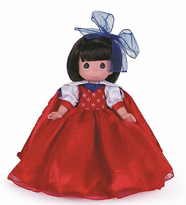 "PRECIOUS MOMENTS 12"" Collector Doll Freedom 4th Of July Snow White DISNEYWORLD"