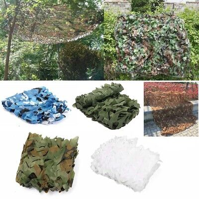Military Camouflage Net Hunting Camping Blue Camo Large Tactical Netting Cover