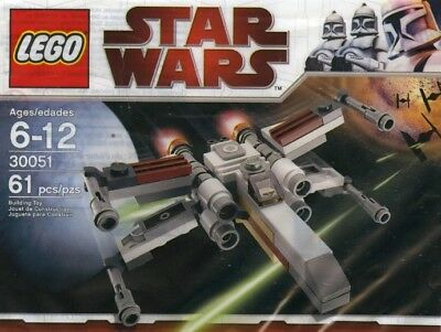 Star Wars movie Lego SET mini X-WING jet fighter plane poly bag SHIP 30051 NEW @
