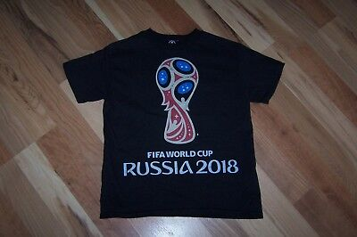 New FIFA World Cup Russia 2018 T-Shirt Youth XS 6 8 year old 100% Cotton NWOT