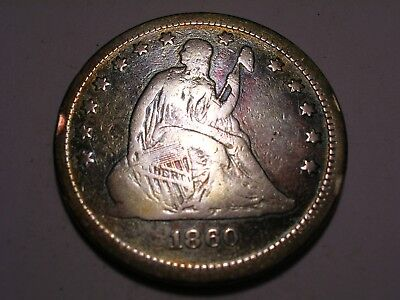 1860 Seated Liberty Quarter (Attractive)