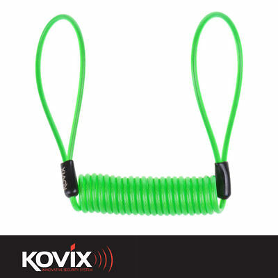 Kovix Fluo Green Hi Vis Disc Lock Reminder Cable Safety Device For Disc Locks