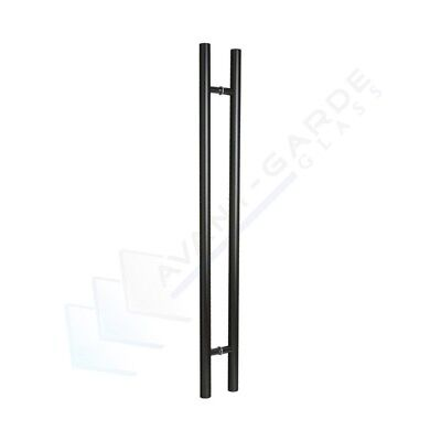 Black Pull Handle Entrance Door 1200 Front Modern External Long Stainless Steel