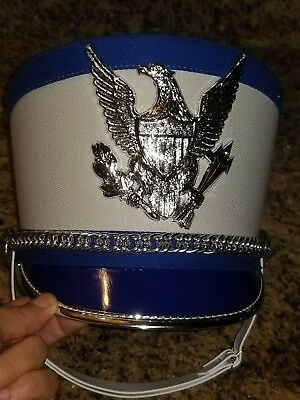 e2746df1c25 BAYLY HOLLYWOOD INC Royal Blue Costume Marching Band Hat leaders Helmet Sz  6 5 8
