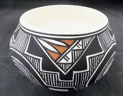 Acoma Pottery Signed M. Vallo 1996 Geometric Polychrome Jar EXCELLENT CONDITION